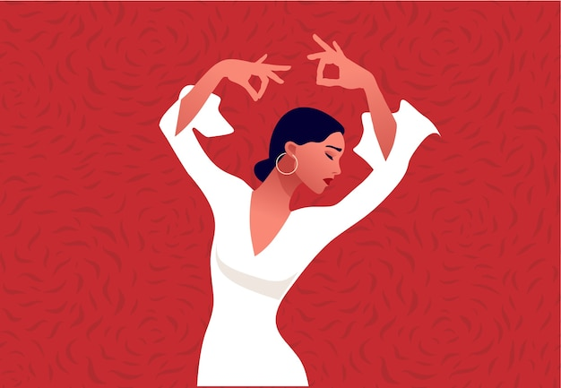 Danseuse de flamenco. belle femme gracieuse dansant. culture espagnole.