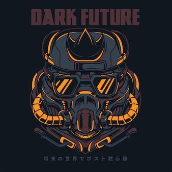 Dark future illustration