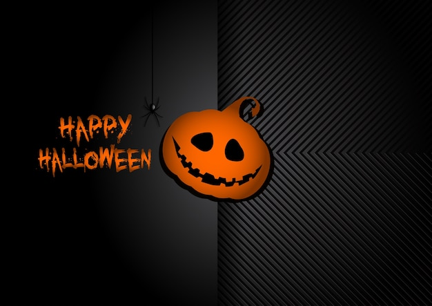 Dark hallowen avec citrouille