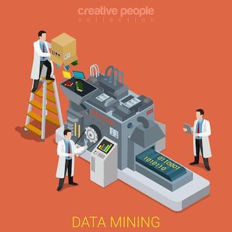 Data mining plat isométrique