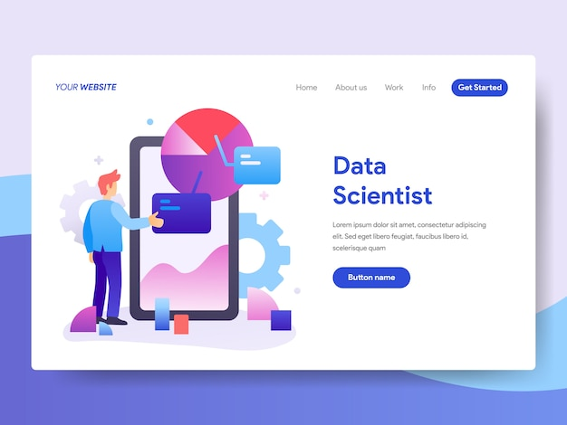 Data scientist illustration pour la page d'accueil