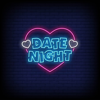 Date night neon signs