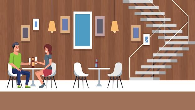 Date romantique et dîner au restaurant