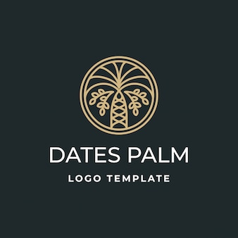 Dates de luxe palm logo