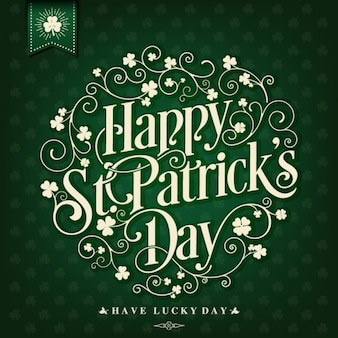 Day background design de saint-patrick