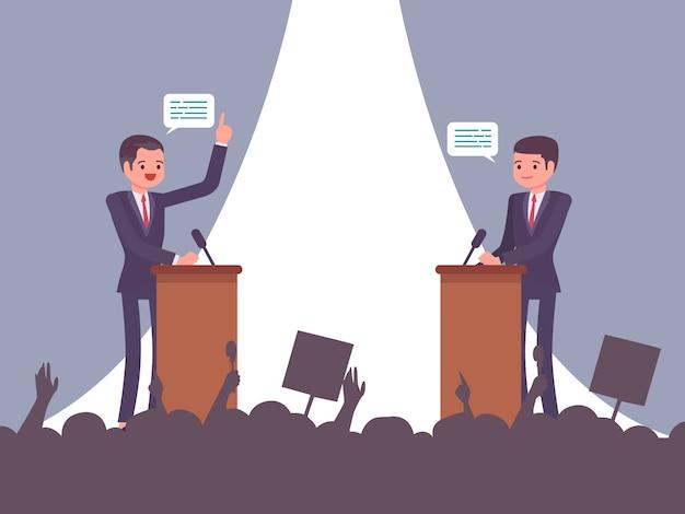Débat avant l'élection
