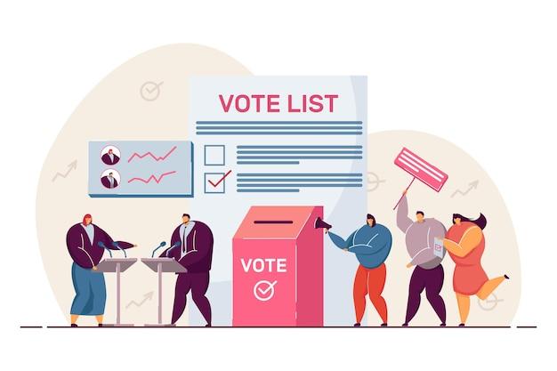 Débats politiques et vote, vote des citoyens