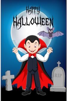Debout de vampire de dessin animé