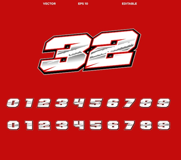 Décalcomanies moto cross design numéro de course