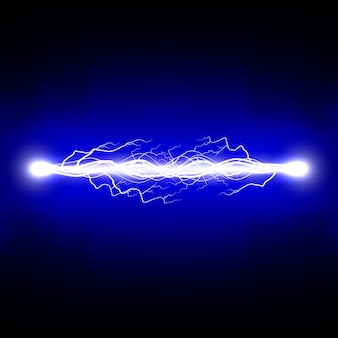 Decharge electrique. foudre. illustration.