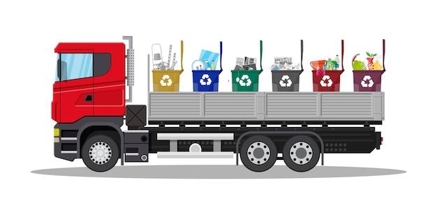 Déchets de transport par camion.