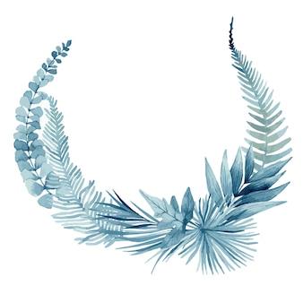 Décoartion de feuilles bleues