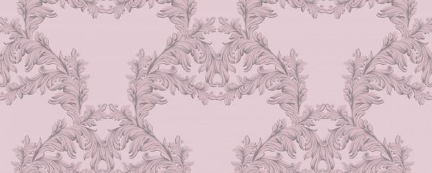 Décor damassé à la main motif damassé. textures d'arrière-plan baroques
