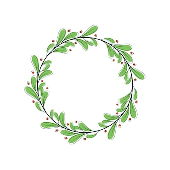 Décor de fleurs romantiques à feuilles décoratives illustration stock