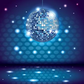 Décor intérieur disco des années 80