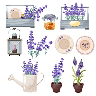 Décor à la maison de style vintage provance serti de fleurs