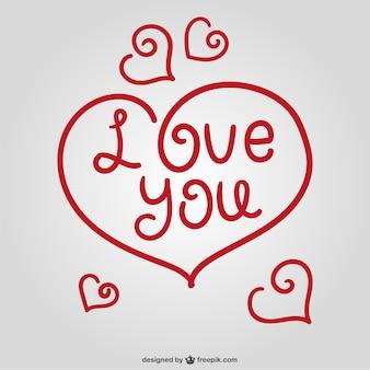 Décoratif coeur de voeux saint-valentin