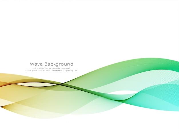 Décoratif élégant vague colorée