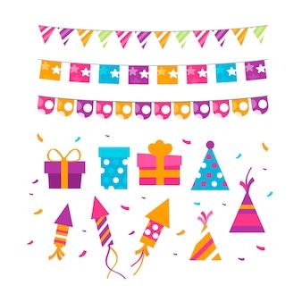 Décoration d'anniversaire colorée