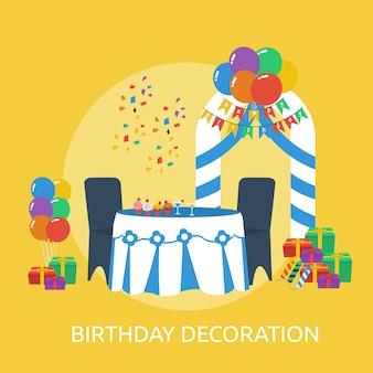 Décoration d'anniversaire conception conceptuelle