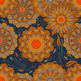 Décoration d'art mandala fleur motif abstrait