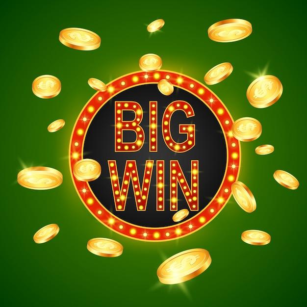 Décoration de bannière rétro jackpot gambling