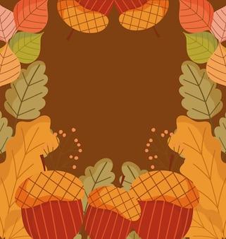 Décoration de bordure d'automne
