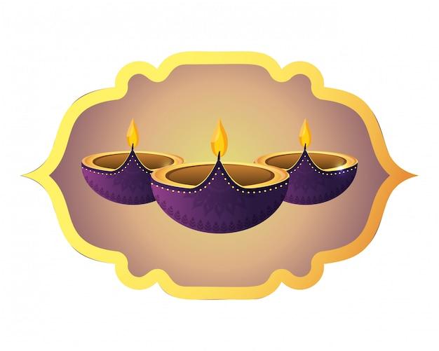 Décoration de bougies indiennes