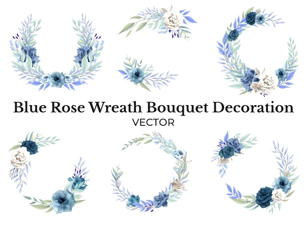 Décoration de bouquet de fleurs rose bleu