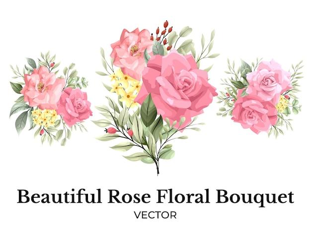 Décoration de bouquet de fleurs rose rose