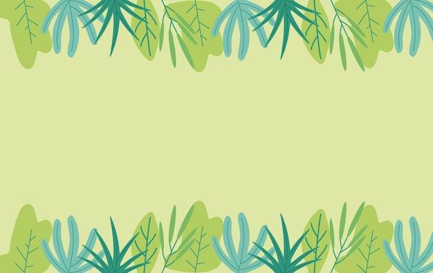 Décoration de cadre oraganique plante feuilles