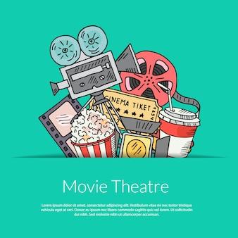 Décoration de cinéma sur vert