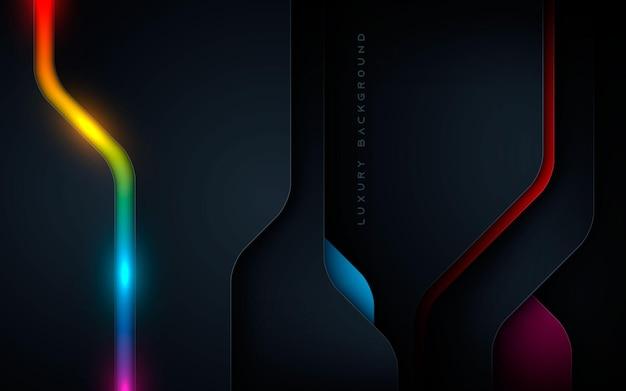 Décoration de couches colorées de fond sombre de dimension de luxe