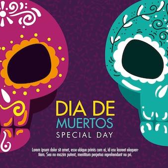 Décoration de crânes pour célébrer le jour des morts