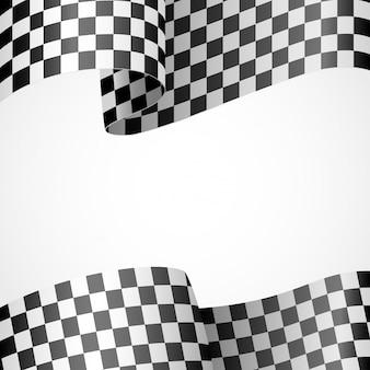 Décoration de drapeau de course sur blanc
