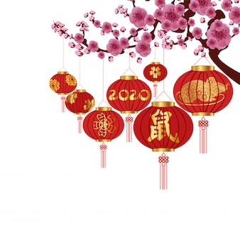 Décoration du nouvel an chinois