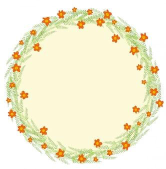 Décoration avec des feuilles et des fleurs