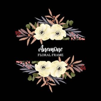 Décoration de fleurs de mariage avec anémone