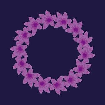 Décoration florale circulaire