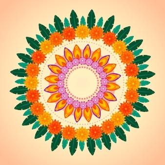 Décoration florale onam