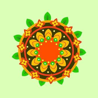 Décoration florale plate onam