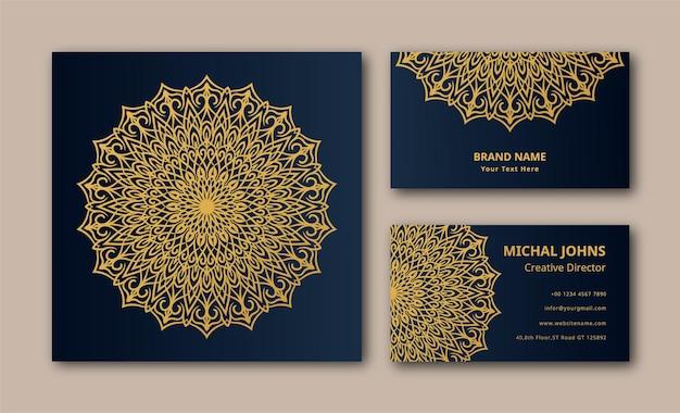Décoration fond mandala vector carte de visite