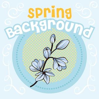 Décoration de fond de printemps