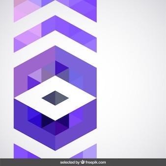 Décoration géométrique pourpre