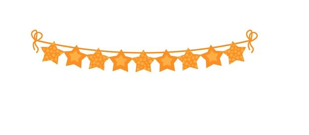 Décoration de guirlande de drapeaux en forme d'étoile de banderole de fête