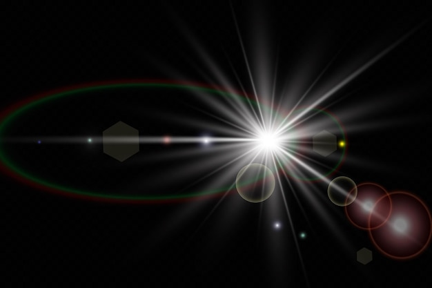 Décoration d'illustration effet de lumière lueur