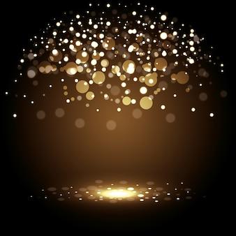 Décoration avec des lumières dorées
