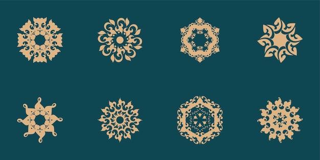 Décoration de mandala unique un ensemble de style ethnique