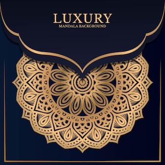 Décoration d'ornement de fond mandala de luxe