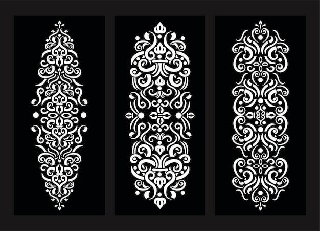 Décoration ornement noir et blanc